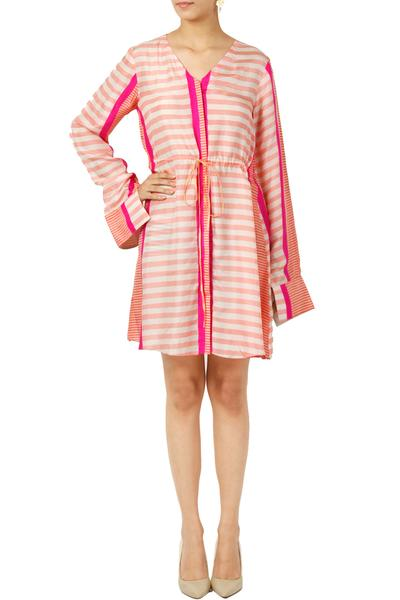 Dresses, Clothing, Carma, Pink stripe print dress ,  ,