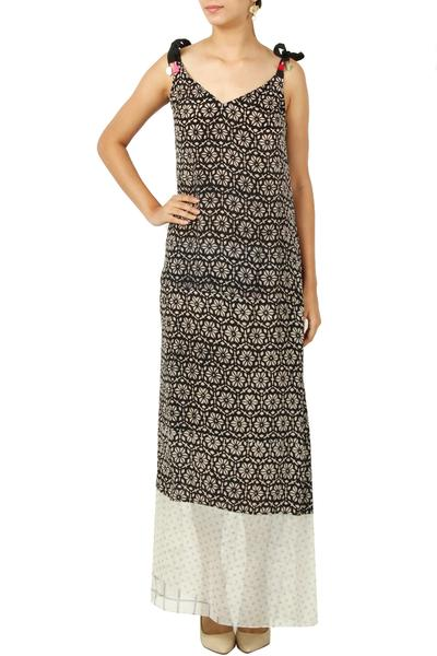 Dresses, Clothing, Carma, Black printed maxi dress ,  ,
