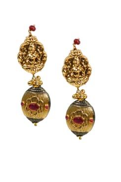 designer art karat necklace earrings jhumkis