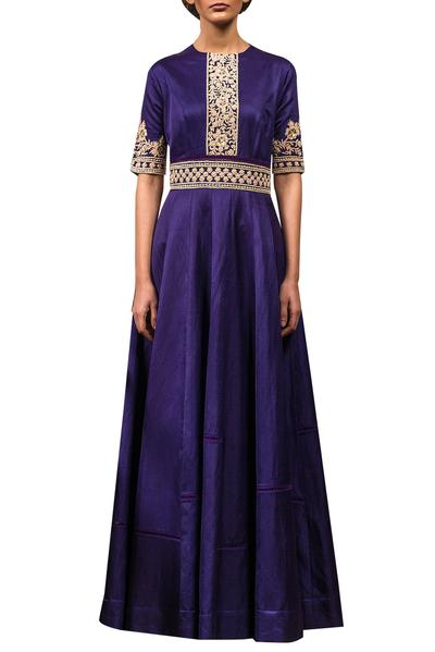Gowns, Clothing, Carma, Purple embroidered gown ,  ,  ,