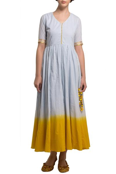 Dresses, Clothing, Carma, Multicolor ombre shaded long dress ,  ,