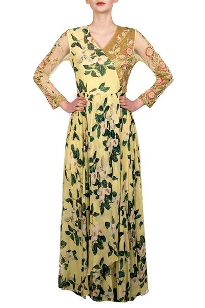 Dresses, Clothing, Carma, Yellow printed maxi dress ,  ,  ,
