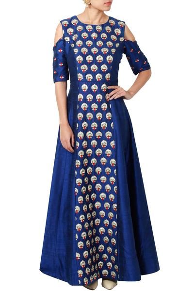 Gowns, Clothing, Carma, Royal Blue Embroidered Gown ,  ,  ,