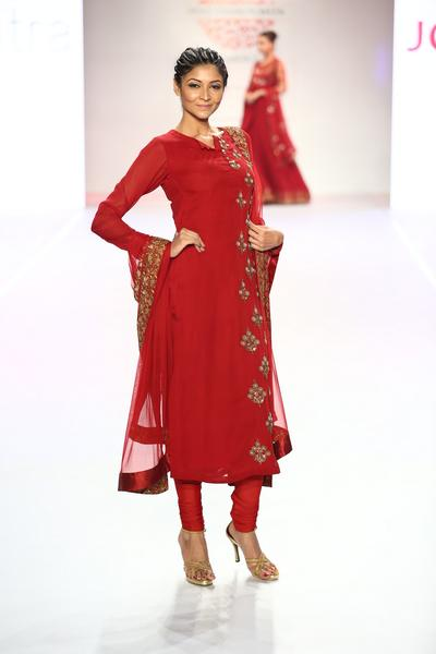 Suits, Clothing, Carma, Anarkali with One Side Embroidery ,  ,