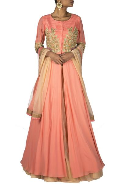 Dresses, Clothing, Carma, Side net Kalidar dress ,  , Evening, Festive, Formal , Reception,Cocktail,Bridesmaids , Ethnic , Georgette , India , Dryclean Only ,
