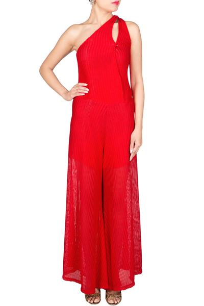 Jumpsuits, Clothing, Carma, Red Jumpsuit ,  , Casual, Evening, Formal , Contemporary , Silk Jersey , India , Dry Clean only ,