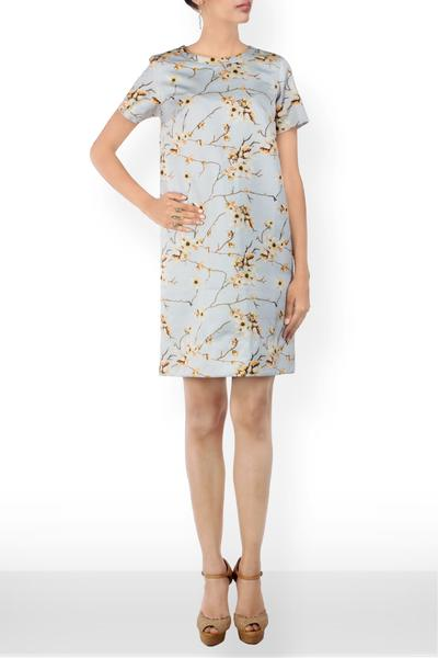 Dresses, Clothing, Carma, Printed Shift Dress ,  , Resort SS'21 , Resort Wear , Contemporary , Shell - Cotton Satin, Lining - Viscose , India , Dry Clean only ,