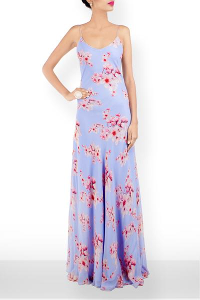 Dresses, Clothing, Carma, Floral Printed gown ,  , Resort SS'15 , Resort Wear , Contemporary , Shell - Georgette, Lining - Viscose , India ,  Dry Clean only ,