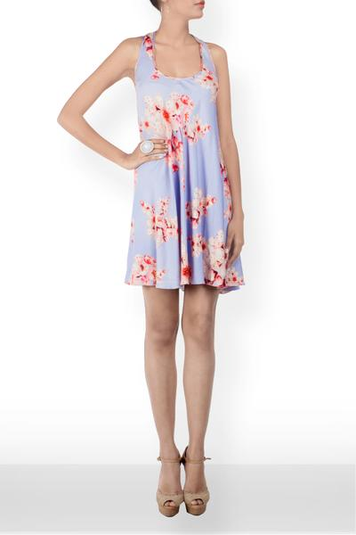 Dresses, Clothing, Carma, Floral Printed Short Slip Dress ,  , Resort SS'18 , Resort Wear , Contemporary , Shell - Viscose Towel , India ,  Dry Clean only ,