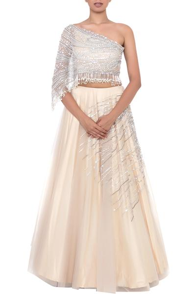 Lehengas, Clothing, Carma, Pale beige lehenga skirt and blouse ,  ,  ,