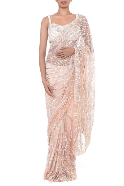 Sarees, Sarees, Clothing, Carma, Peach and blush saree set ,  ,  ,