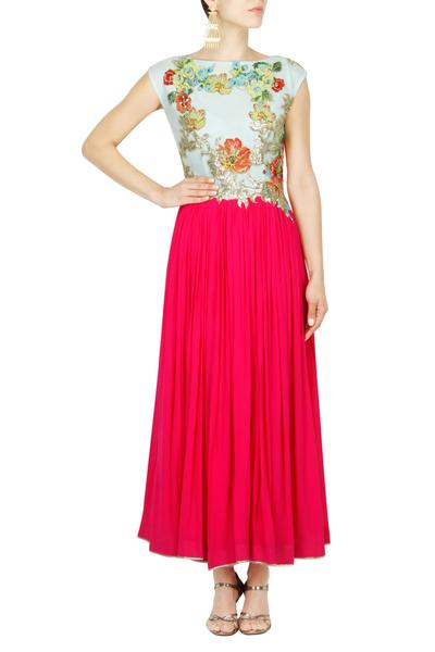 Dresses, Clothing, Carma, Coral Floral Cotton Applique Dress ,