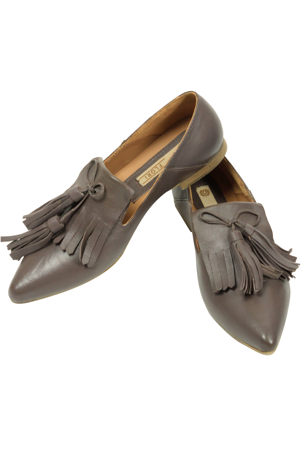 discount sale official shop 2018 sneakers Mud brown pointed flats by Flori   Carmaonline shop