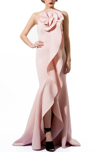 Gowns, Clothing, Carma, Pale pink structured mermaid gown ,  ,