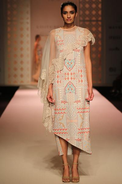 Dresses, Clothing, Carma, Architecture print dress with sheer cape ,  ,