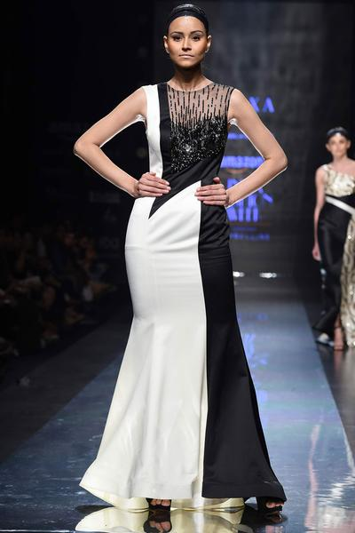 Gowns, Clothing, Carma, Monochrome Embellished Gown ,  ,