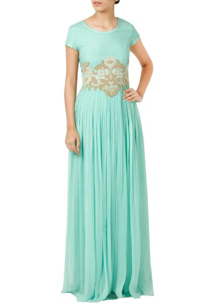 Dresses, Clothing, Carma, Aqua Dori And Pearl Embroidered Maxi Dress ,  ,  ,