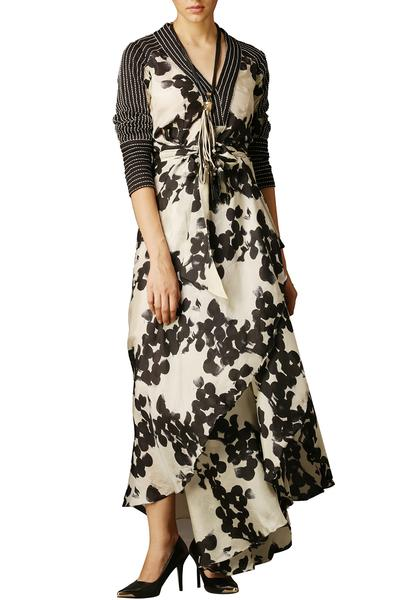 Dresses, Clothing, Carma, Monochrome Printed Maxi Dress ,  ,