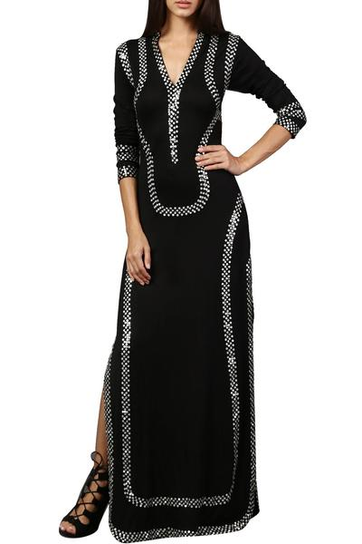 Dresses, Clothing, Carma, Black Embellished Kaftan ,  ,  ,