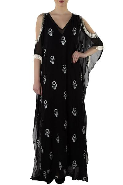 Dresses, Clothing, Carma, Black printed kaftan ,  ,  ,