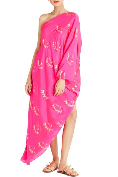 Dresses, Clothing, Carma, Hot Pink Printed Asymmetric Dress ,  ,  ,