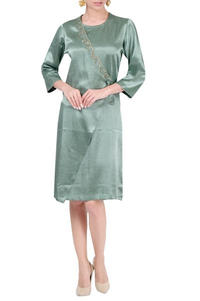 Dresses, Clothing, Carma, Sage overlap tie up dress ,  ,  ,