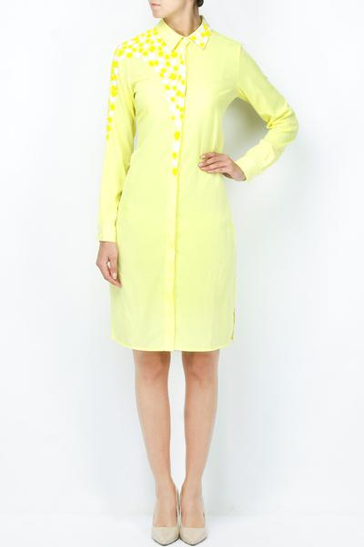 Dresses, Clothing, Carma, Pale yellow embellished shirt dress ,  ,