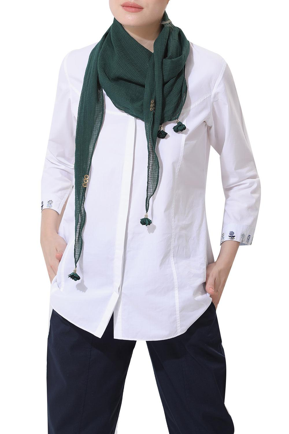 6521d35aebfc2 Scarves and Stoles, Clothing, Carma, Emerald Green Scarf , ,