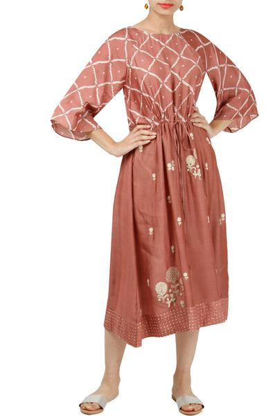 Dresses, Clothing, Carma, Dusty pink embroidered dress ,  ,  ,