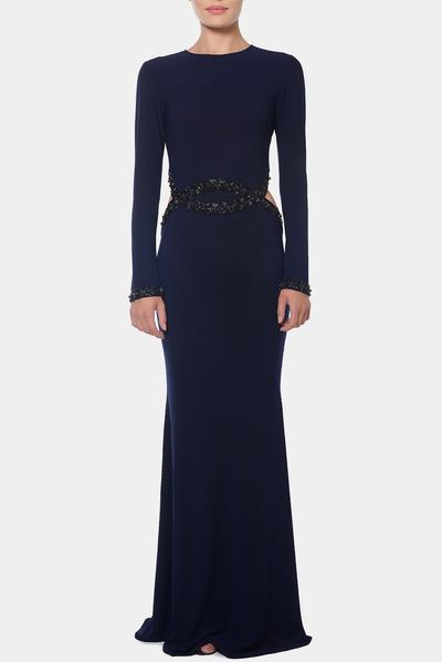 Gowns, Clothing, Carma, Navy cut out gown ,  ,