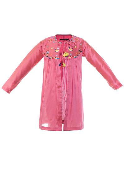 Girls, Kids, Carma, Pink front open tunic