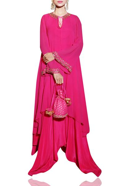 Kurtas and Sets, Clothing, Carma, Rani pink tunic with pants ,  ,  ,