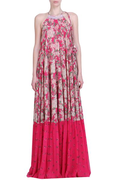 Dresses, Clothing, Carma, Pink printed maxi dress ,  ,  ,