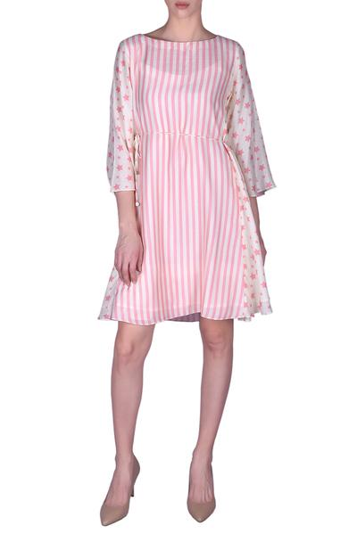 Dresses, Clothing, Carma, Blush pink and ivory printed dress ,  ,  ,