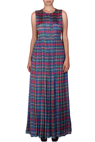 Gowns, Clothing, Carma, Multicolor printed gown ,  ,  ,