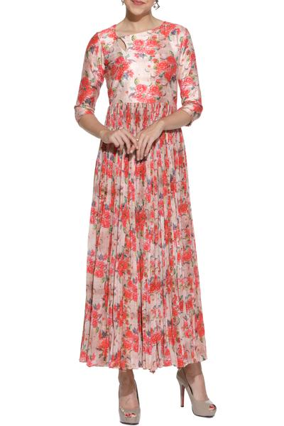 Dresses, Clothing, Carma, Coral printed maxi dress ,  ,  ,