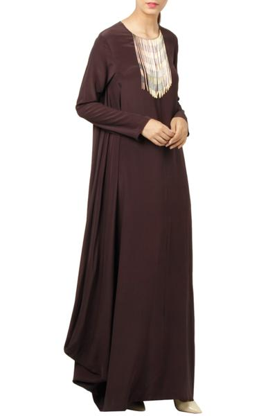 Gowns, Clothing, Carma, Plum cowl gown ,  ,