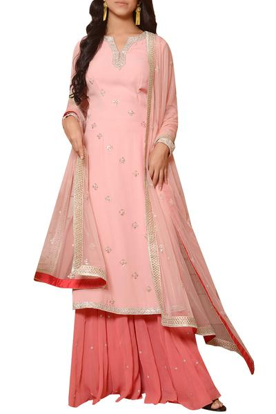 Suits, Clothing, Carma, Pink zardosi embroidered kurta set ,  ,  ,