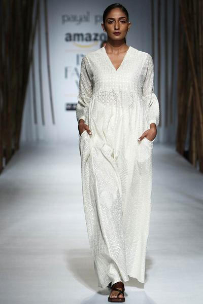 Dresses, Clothing, Carma, Ivory embroidered maxi dress