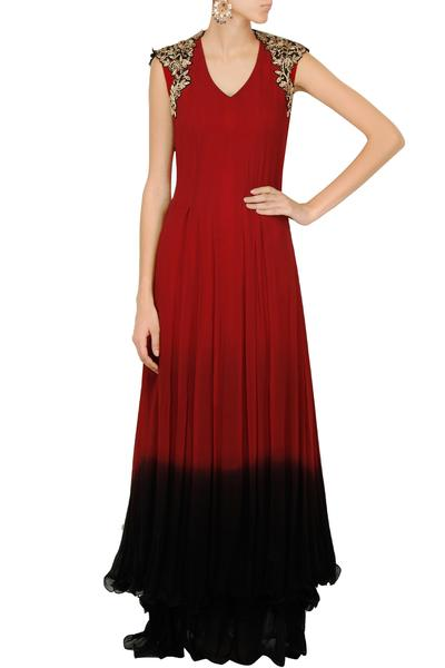 Gowns, Clothing, Carma, Maroon to black ombre gown ,  ,