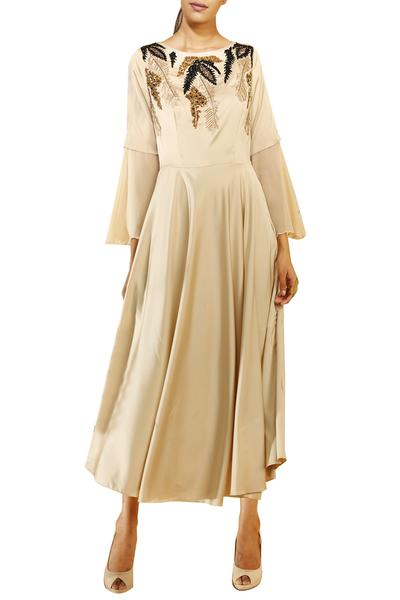 Dresses, Clothing, Carma, Gold beige sequin embellished maxi dress ,  ,  ,