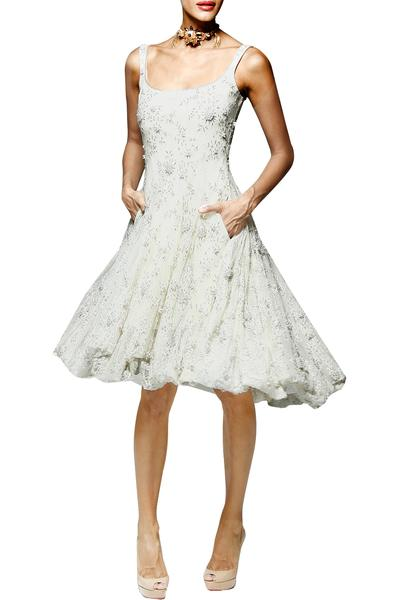 Dresses, Clothing, Carma, Ivory embellished lace dress
