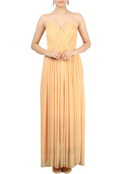 Gowns, Clothing, Carma, Peach embellished gown ,  ,  ,