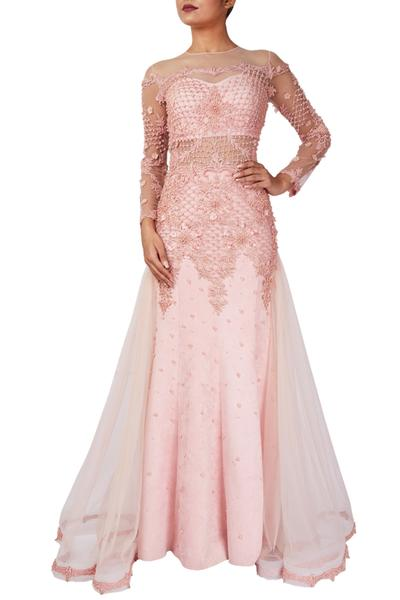 Gowns, Clothing, Carma, Pink embroidered gown ,  ,  ,