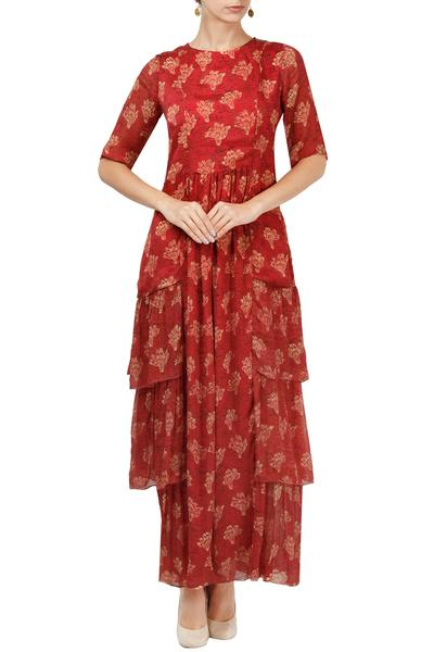 Dresses, Clothing, Carma, Red printed maxi dress ,  ,  ,