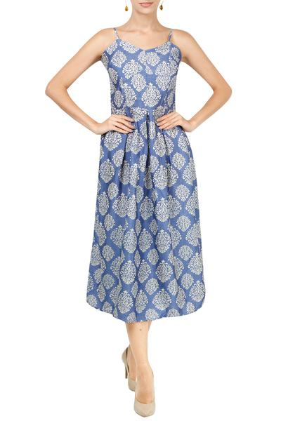 Dresses, Clothing, Carma, Blue block print dress ,  ,  ,