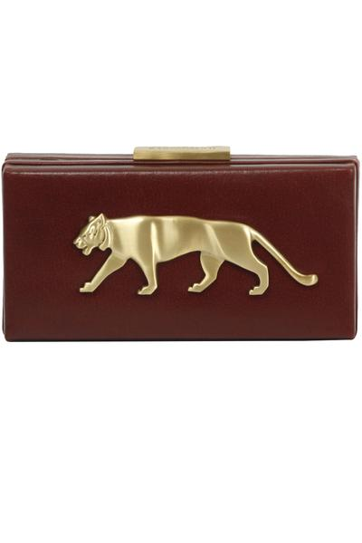 Bags & Clutches, Accessories, Carma, Cherry rectangle bengal tiger motif clutch ,  ,  ,