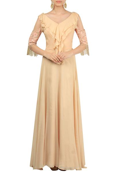 Gowns, Clothing, Carma, Blush pink embellished gown ,  ,