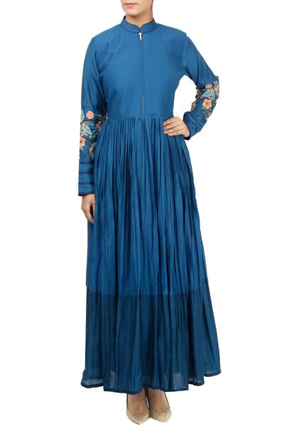 Dresses, Clothing, Carma, Blue embroidered maxi dress ,  ,  ,