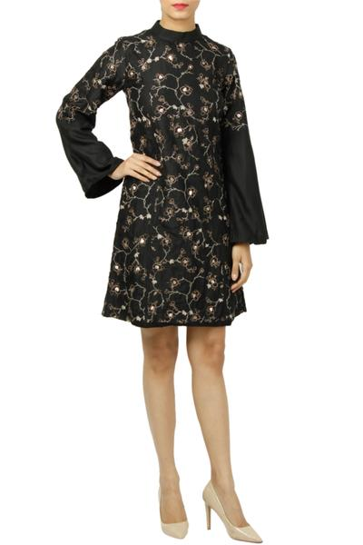 Dresses, Clothing, Carma, Black Embroidered Short Dress ,  ,  ,